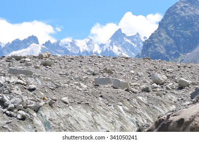 Glacial Mountain Top with Mountain Peaks