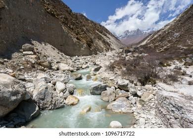 Glacial River at Pangboche