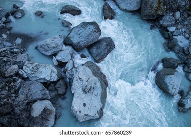 Glacial water, New Zealand