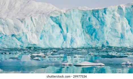 Glacier in Arctic Spitsbergen