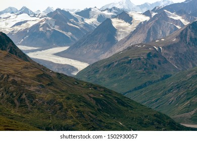 Glacier below Felsite Peak in Kluane National Park, Yukon, Canada
