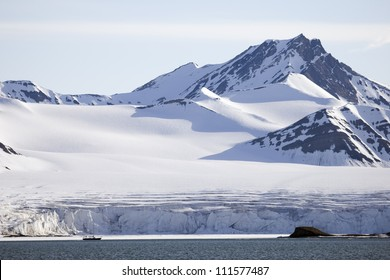 Glacier and Borebukta, Spitsbergen, Svalbard, Norway