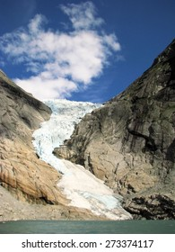 Glacier Briksdal in Jostedal Glacier National Park in Norway, Europe