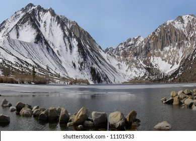 Glacier carved Convict Lake on the eastern side of the Sierra Nevada Mountains in California