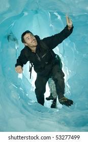 Glacier climbing in New Zealand