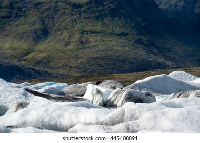 Glacier in Fjallsarlon lagoon, Iceland in June