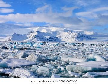 Breiðamerkurjökull Glacier - Glacial Lagoon, Icleand