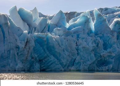 Glacier Grey. Torres del Paine National Park. Chile. South America. UNESCO biosphere.
