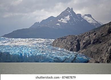 Glacier Grey in Torres del Paine, Chile.