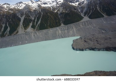 glacier from helicopter