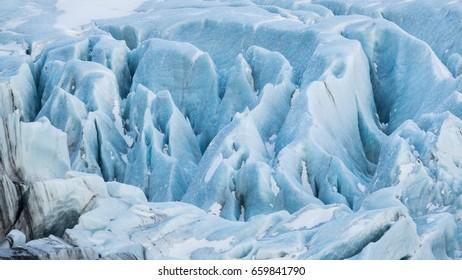 Glacier ice close up taken in Iceland.