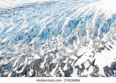 Glacier Ice Detail of Textures and Patterns