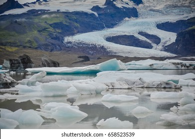 Glacier in Iceland. global warming