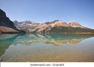 A glacier lake in Banff National park, Alberta, Canada