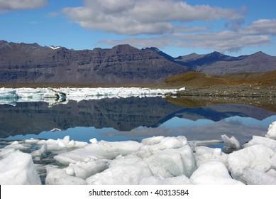 Glacier Lake in Iceland