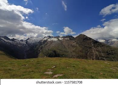 Glacier landscape panorama near Obergurgl, Oetztal in Tyrol, Austria.  - Shutterstock ID 1157581708