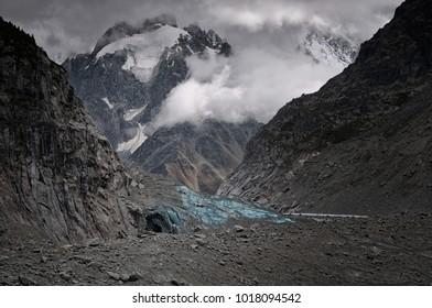 Glacier, Mel de Glace. Chamonix Mont Blanc France