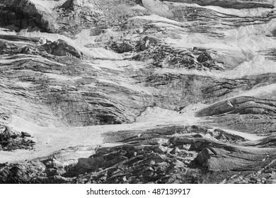 Glacier of Monte Rosa, vertical. Italy.