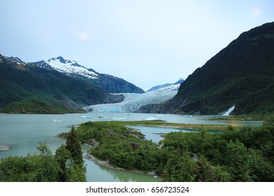 glacier on sea