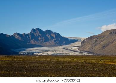 Glacier on a volcano