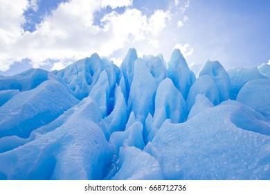 Glacier photo detail blue Artic Antarctica peaks