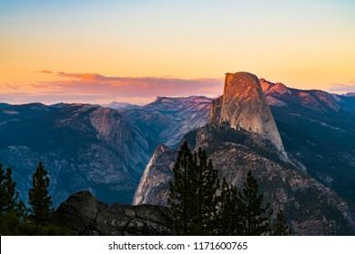 Glacier point at sunset, Yosemite National park,California,usa.