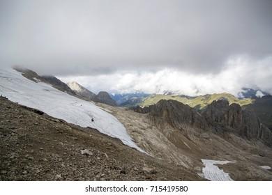 Glacier of Punta Penia - Marmolada, Dolomites, Italy - September 2017