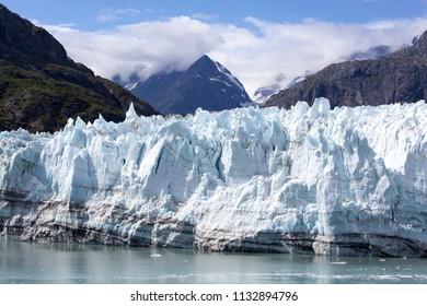 The glacier scenic view in Glacier Bay national park (Alaska).
