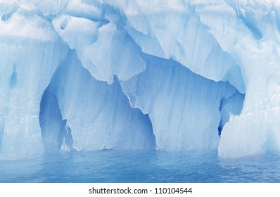 Glacier in sea