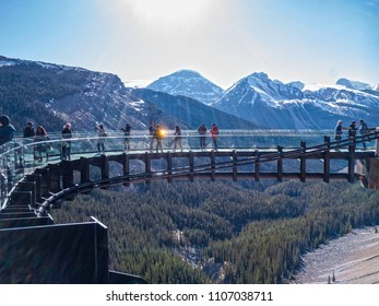 Glacier Skywalk, Columbia Icefields in Rocky Mountains, Canada