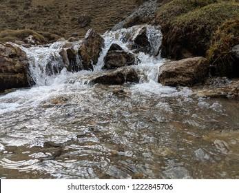 Glacier stream from salkantay