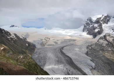 Glacier view from Gornergrat, Switzerland