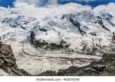 Glacier at Zermatt, Switzerland.
