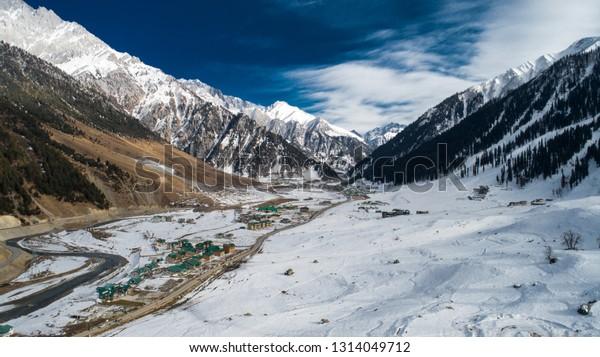 Glaciers - Gulmarg, Srinagar, J&K, India, Drone