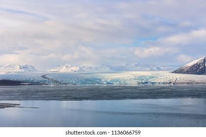 Glaciers and iceberg in jokulsalon lagoon Iceland