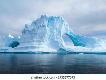 Glaciers and the icebergs of Antarctica from the very south of the Earth.