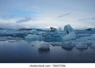 Glaciers in Jokulsarlon, Iceland