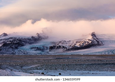 Glaciers and Mountains in Iceland