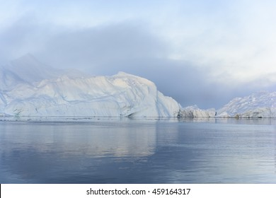 Glaciers are on the arctic ocean to Ilulissat icefjord in Greenland