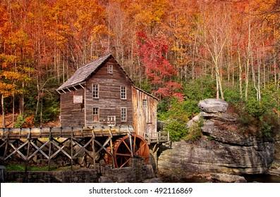 Glade creek grist mill in West Virginia