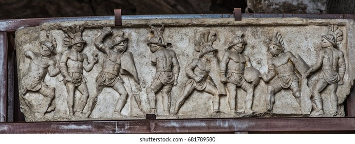 Gladiators of Colosseum in Rome, Flavian Amphitheatre