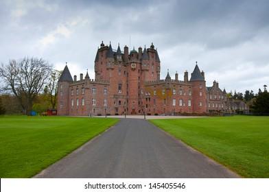 Glamis Castle, childhood home of Queen Elizabeth, the Queen Mother, Scotland, UK