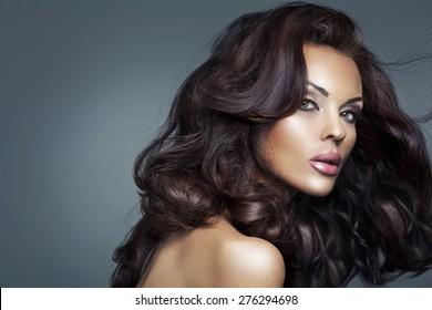 Glamorous brunette beauty