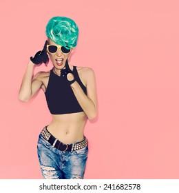 Glamorous Lady punk rock style Party