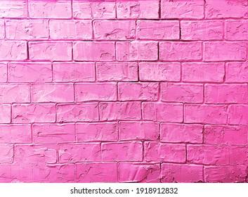Glamorous pink brick background. Modern style