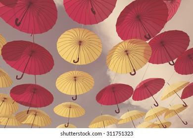Glamorous pink umbrella