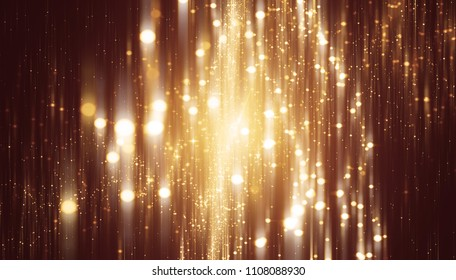 Glamour abstract background gold illustration with glitter.