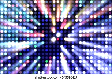 Glamour background of colorful lights with spotlights