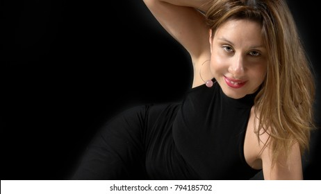 glamour / fashion portrait of a woman's smiling face