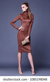 brown dress outfit